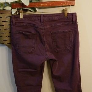 Just Black Jeans - Plum colored skinny jeans